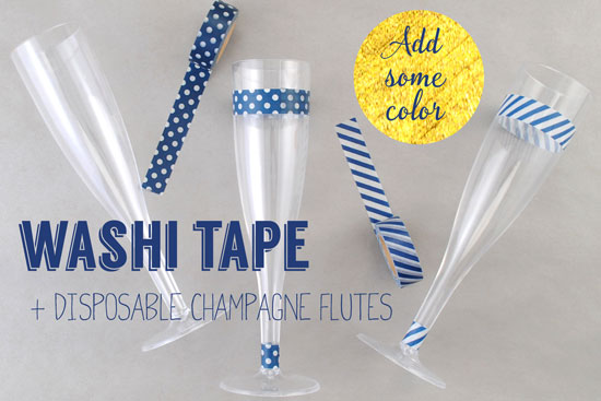 Decorate-Champagne-Flutes-with-Patterned-Coordinating-Washi-Tape