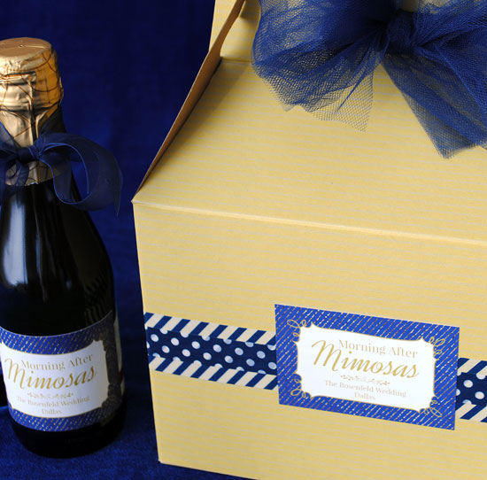 Mimosa Kit for Wedding Party Gift including mini Champagne bottles
