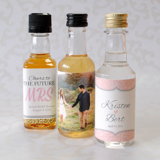 50 ML mini liquor bottles with custom labels