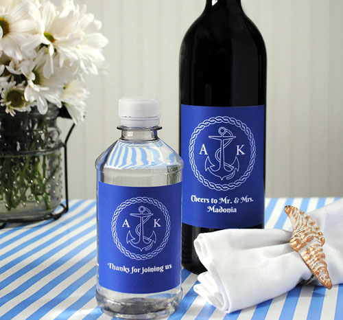 Beach wedding favors with a nautical motif