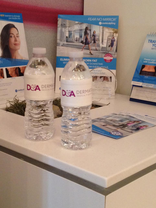 Bottles with custom branding for a doctors office