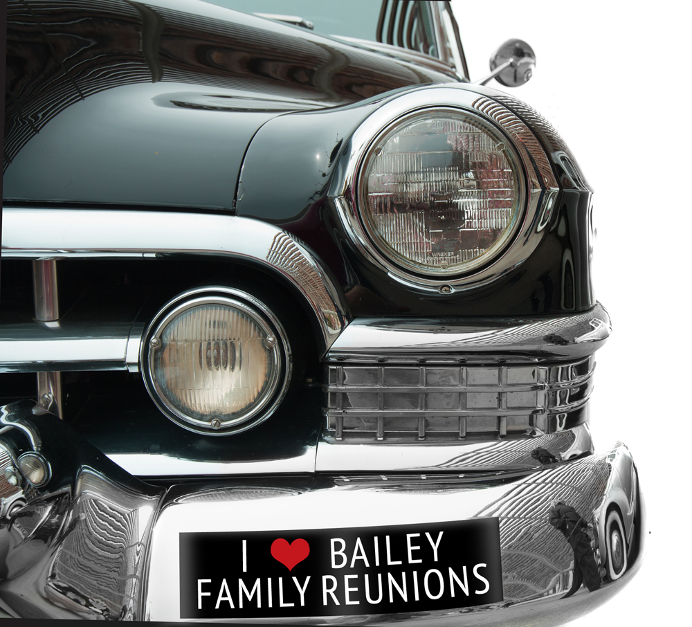 Family Reunion bumper stickers make great party swag