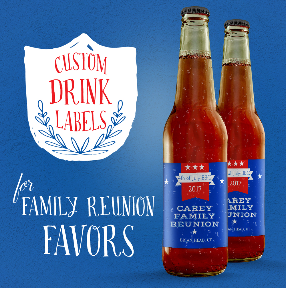 Family reunion idea - custom drink labels