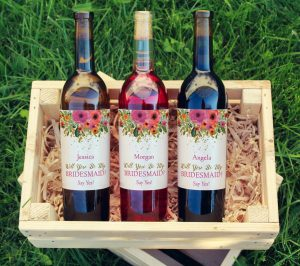 Bridesmaid Wine Labels Are Trending