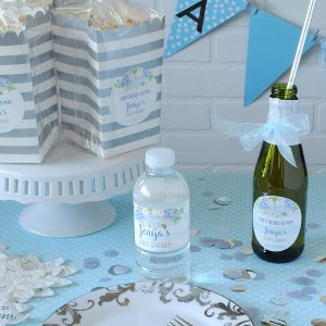 Blue Flowers Baby Boy Shower Theme + Banner Idea