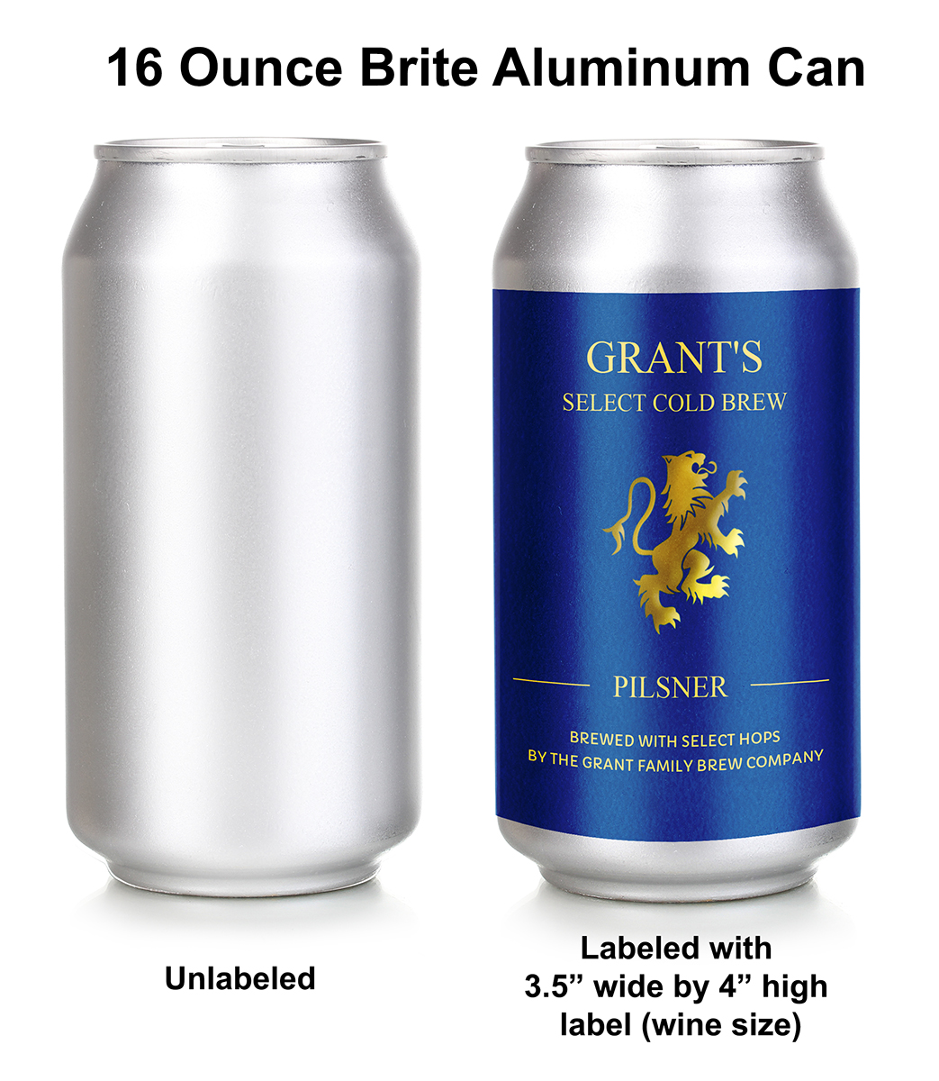 Beer can label template; personalize online. This 'wine' sized label fits 16 ounce aluminum cans.