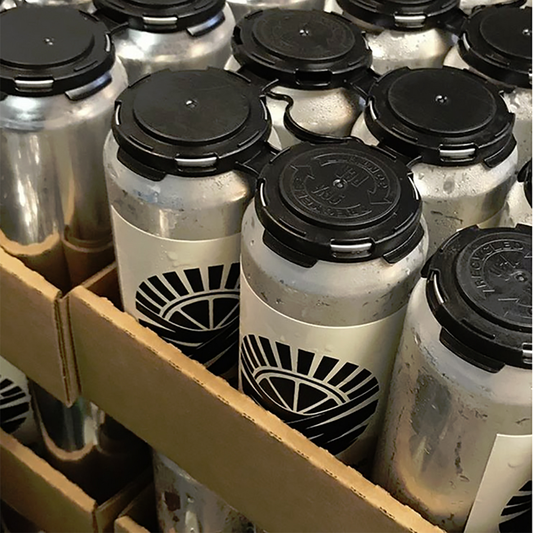 Beer cans with custom beer can labels made on Bottleyourbrand by Vitamin Sea Brewing