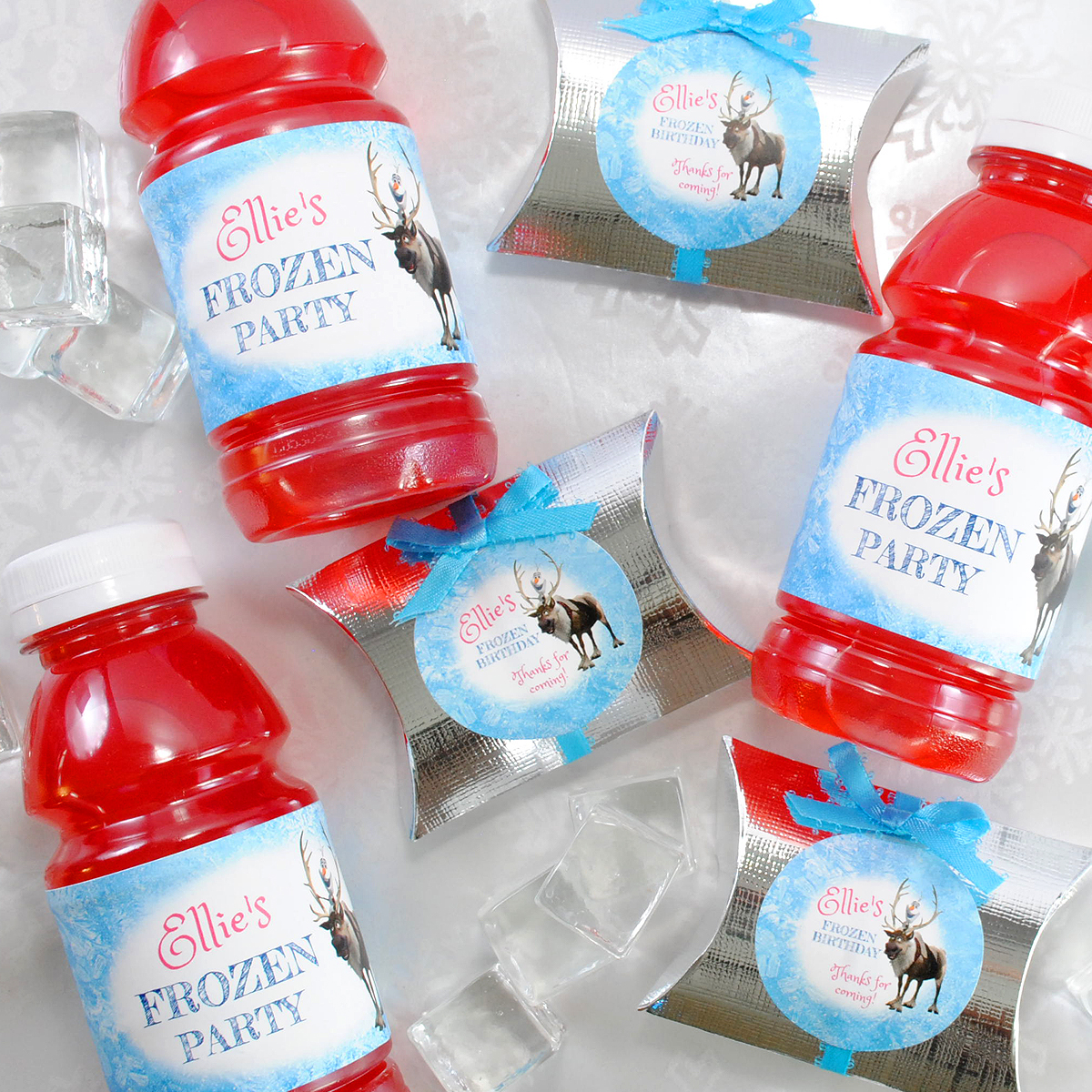 Frozen Movie water bottle labels. Make yours online and upload your favorite character.