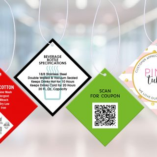 Custom hang tags for clothing, product specifications, QR Codes, and Swag Bags. Hang tags aren't just for wine bottles. Custom hang tags are used for many things.