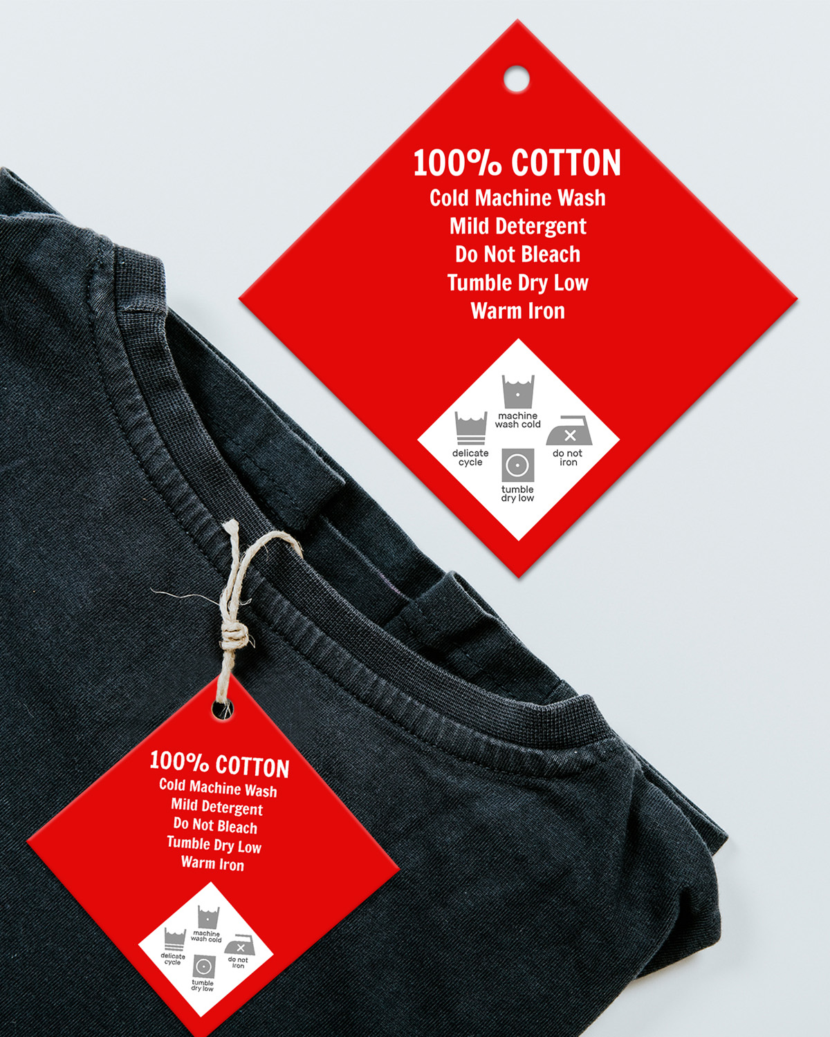 Garment hang tag. Design and order online. Fast printing, low minimums.