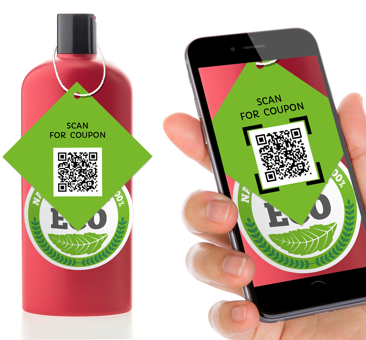 QR code hang tag. Make a custom hang tag for your product or event.