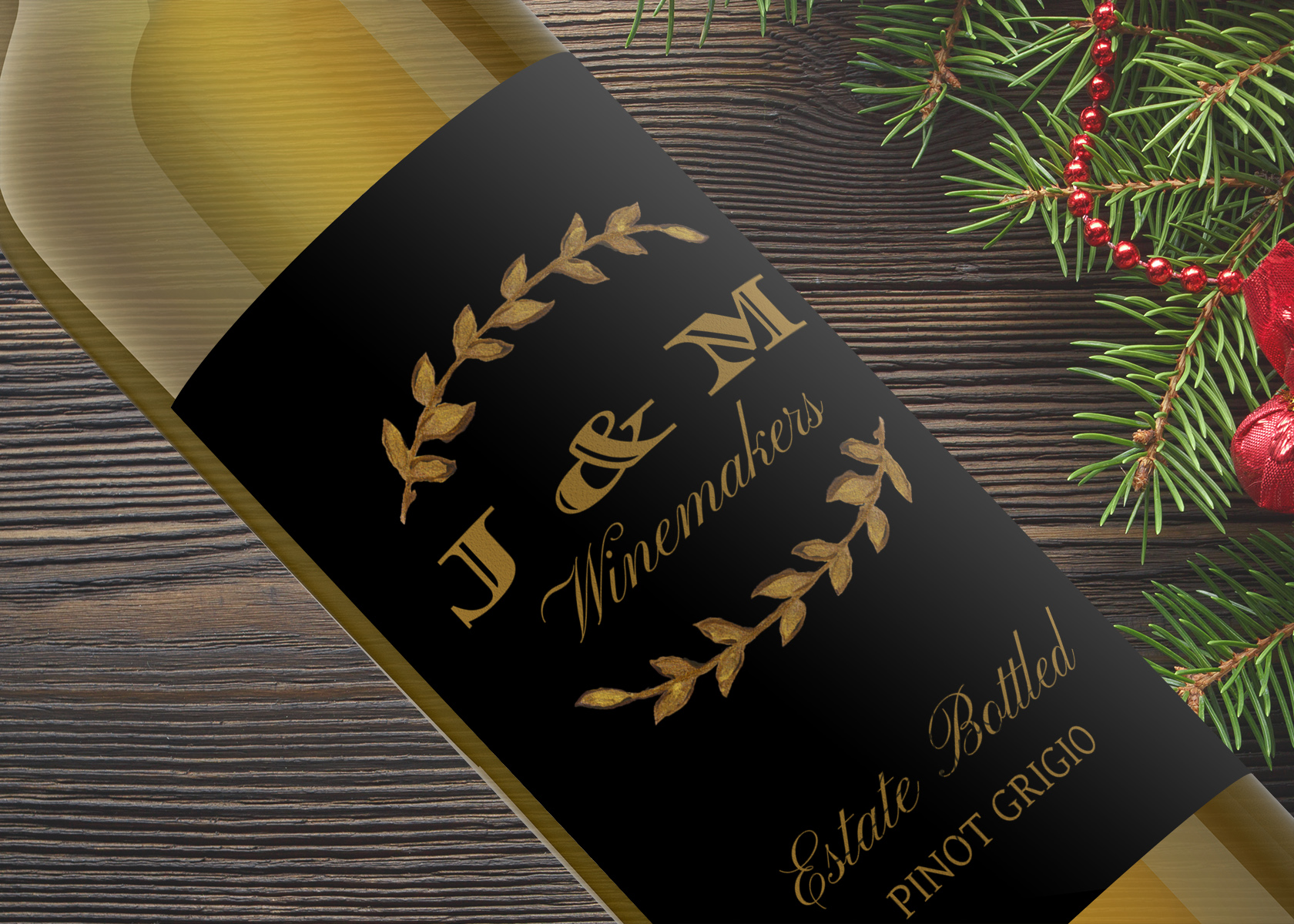 Inexpensive gifts don't have to look cheap. This custom wine label is only $3.75 and is waterproof, self-adhesive, and ships within two business days.