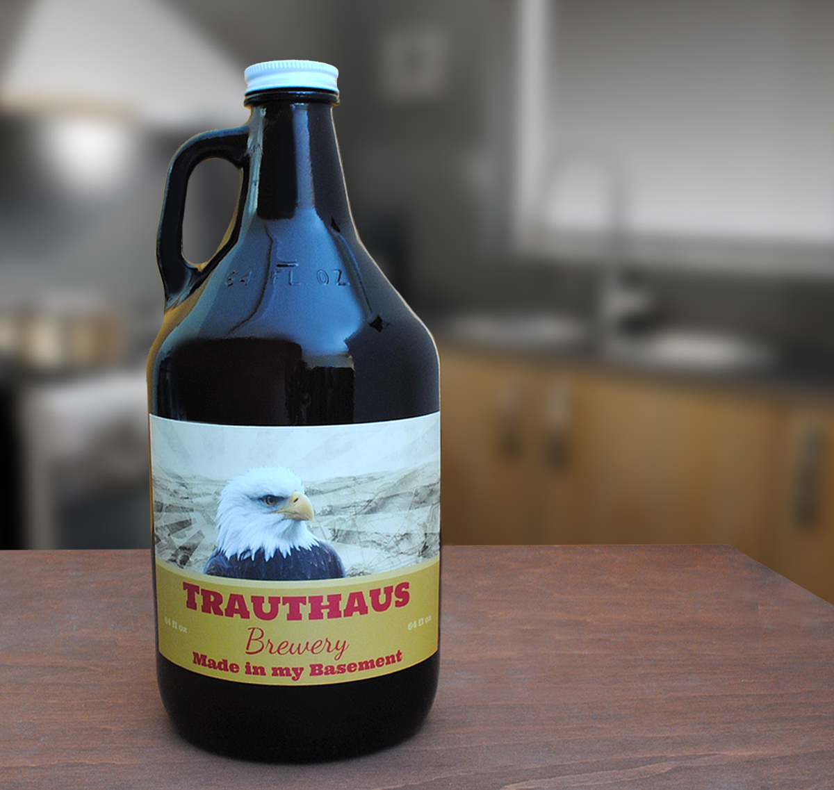 Growler labels are a cheap holiday gift that look expensive. Make a custom growler label online.