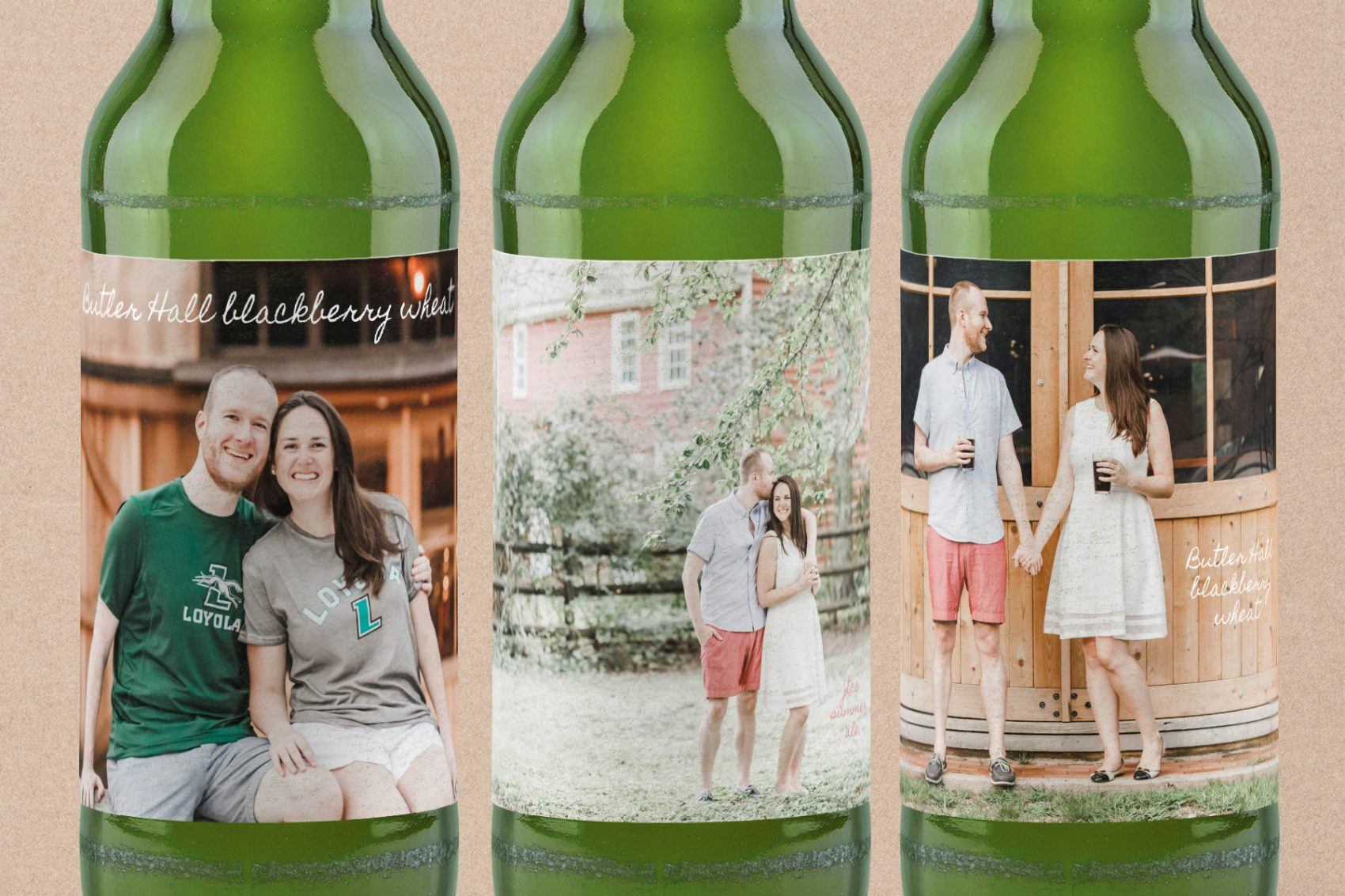 Beer labels with a photo are easy to make for cheap gifts for beer lovers. Starting at one for $3.75. Make one for everyone in the family.
