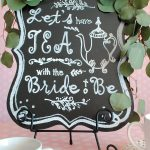 Welcome sign at brida tea.