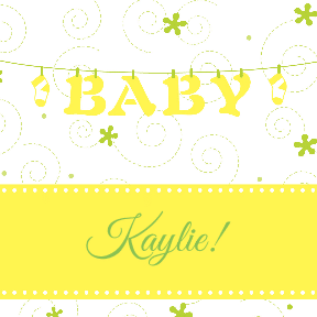 Baby Clothesline Yellow
