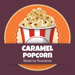 Carmel Covered Popcorn