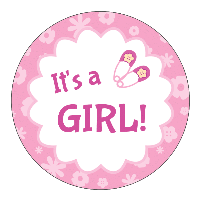 It 39 s a girl circle sticker by bottleyourbrand for It s a girl dekoration