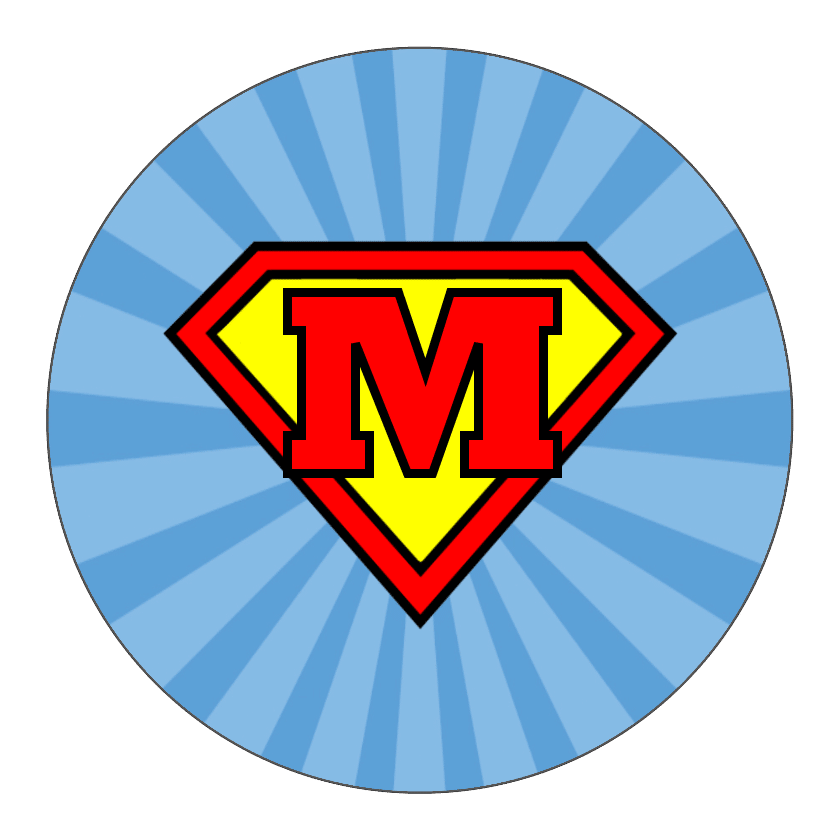 Superman circle sticker