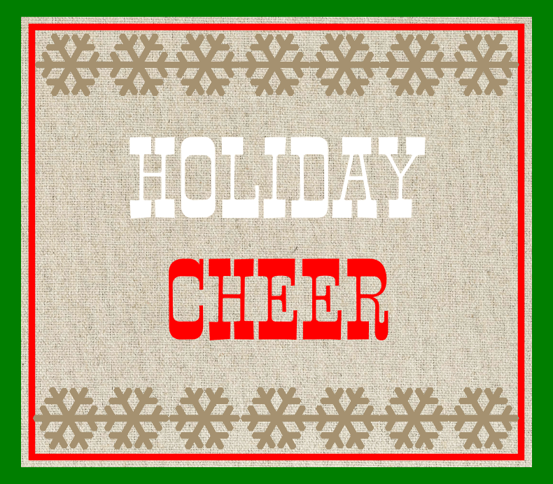 Burlap Holiday Cheer