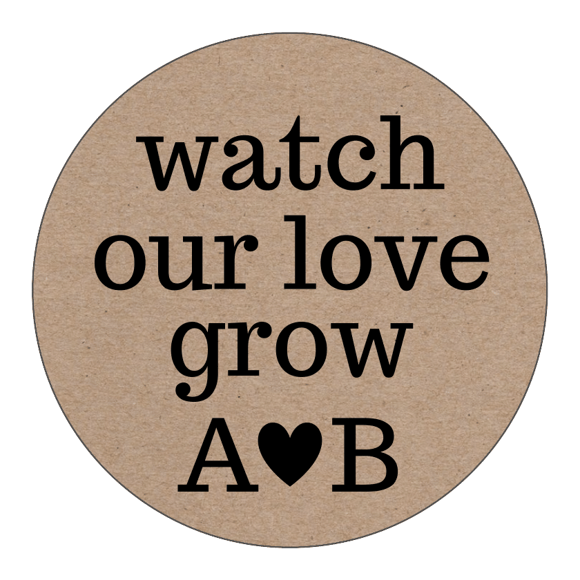 Kraft Paper Love Grow