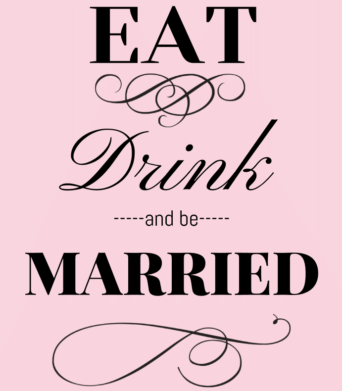Eat Drink And Be Married Wine Labels Wedding Wine Labels: Eat Drink And Be Married Wine Label By BottleYourBrand