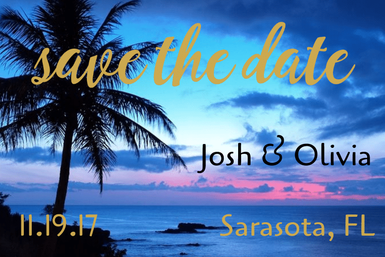 Save The Date Sunset
