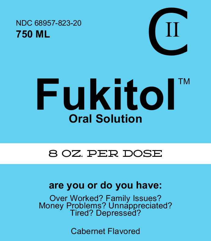 Fukitol Wine Label By Bottleyourbrand