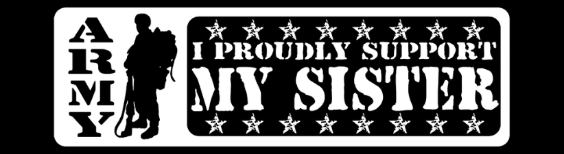 Army Proudly Support Sister