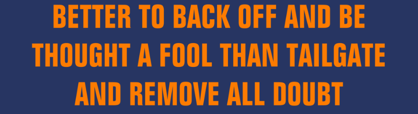 Back Off Or Be A Fool