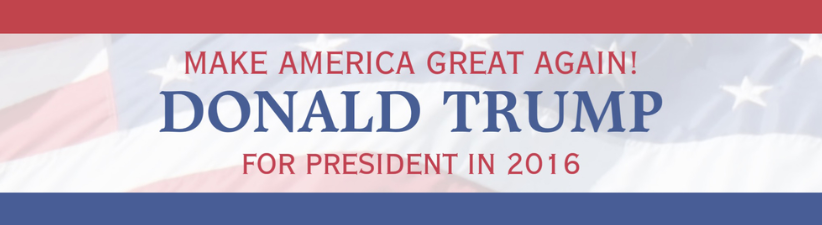 Donald Trump For President USA Flag