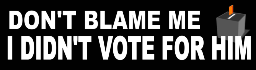 Dont Blame Me Didnt Vote For Him