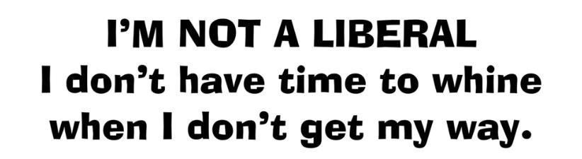 Im Not A Liberal