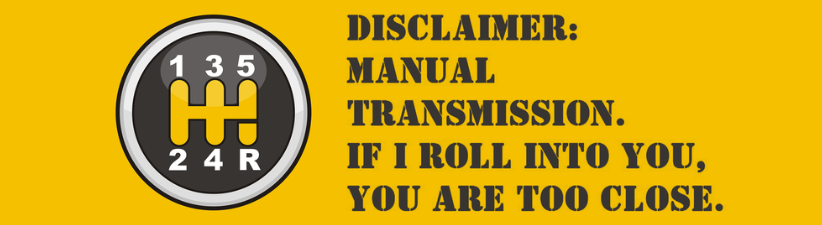 Manual Transmission Disclaimer