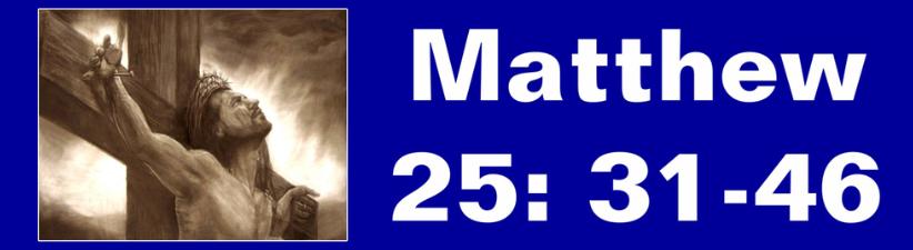 Matthew 25 31 46