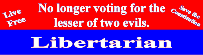 No Longer Voting For The Lesser Of Two Evils