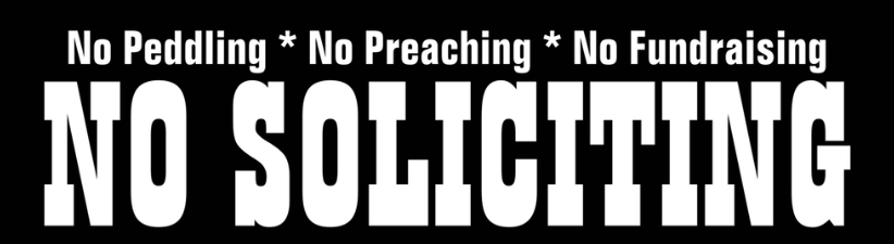 No Peddling No Preaching