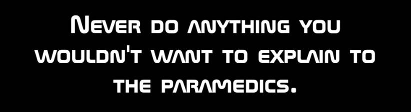 Paramedics Warning