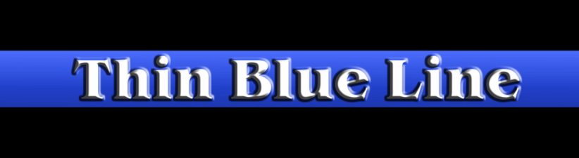 Thin Blue Line Chrome Text