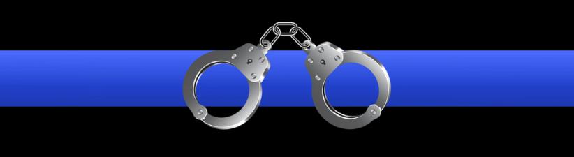 Thin Blue Line Handcuffs