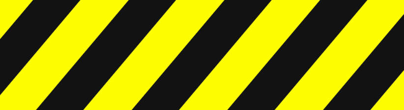 Yellow Black Warning Stripes