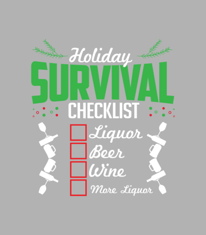 Christmas Holidays Survival List Liquor Wine Beer