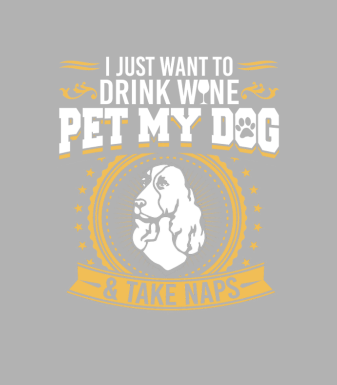 Cocker Spaniel2 Drink Wine