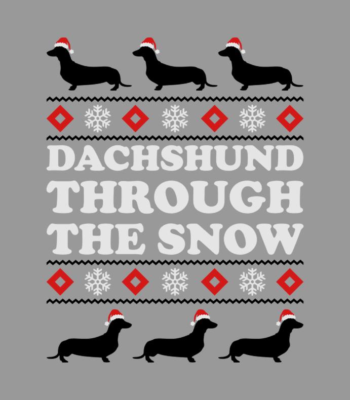 Dashhund Through The Snow