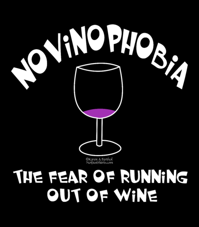 White Novinophobia Glass