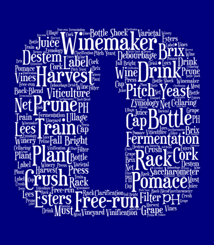 Winemaker Wine Bottle Icon Word Cloud White
