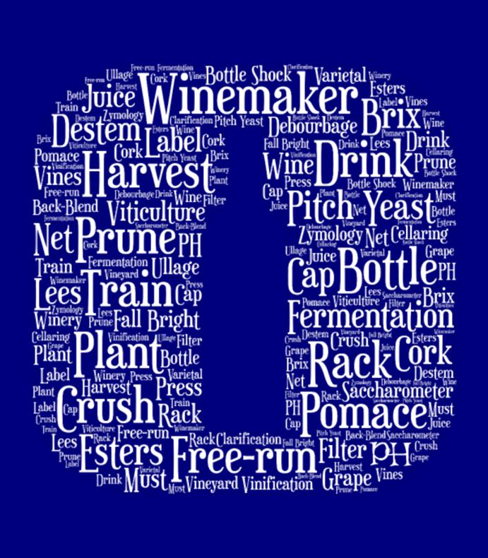 Winemaker Wine Bottle Icon Word Cloud White