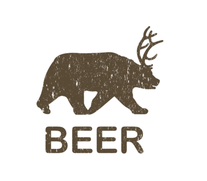 Beer Bear Deer Vintage