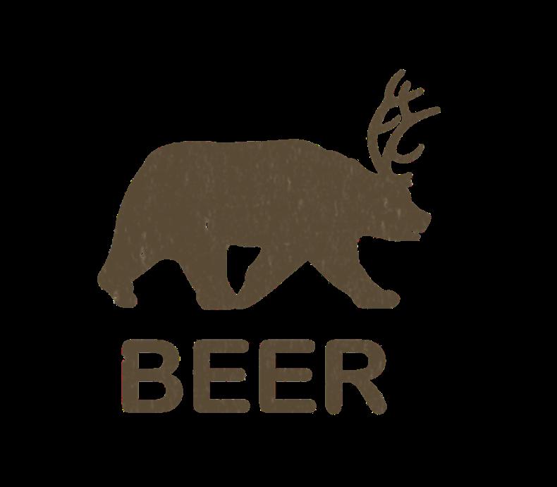 Beer Bear Deer Vintage
