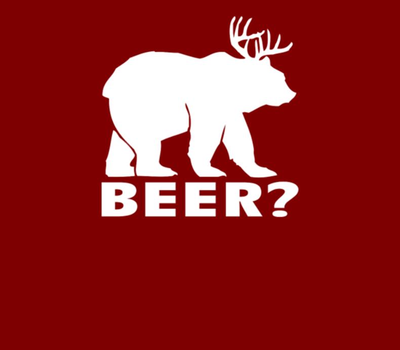 Beer Funny Deer Bear Humor Joke